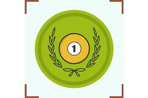 Billiard championship icon. Vector