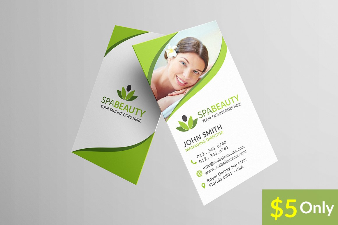 Beauty Spa Business Card ~ Business Card Templates ~ Creative Market
