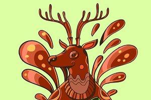 Deer with a mug