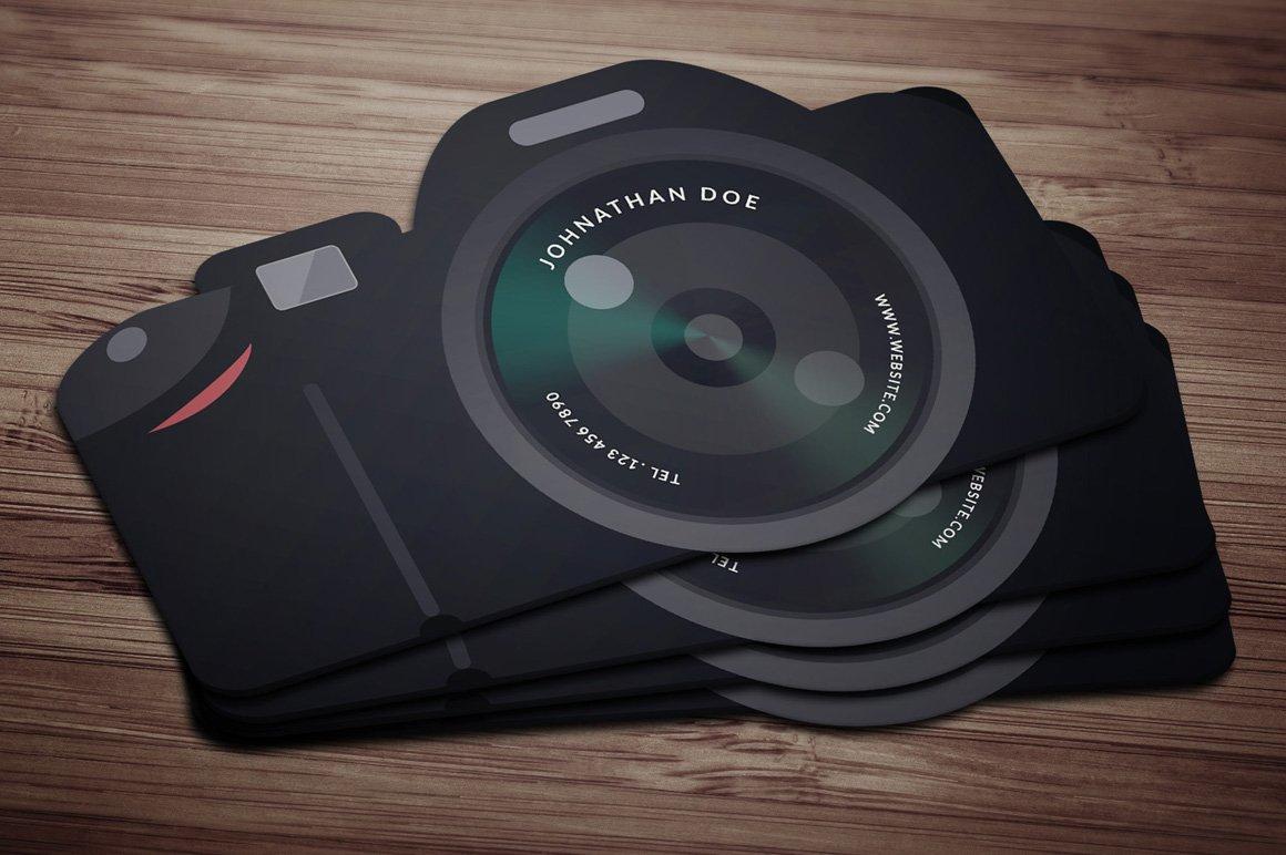 flat cam business card business card templates creative market