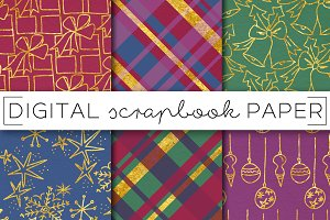 Jewel Tone Holiday Digital Paper