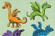 Cute dragons set