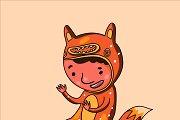 Foxboy sticker