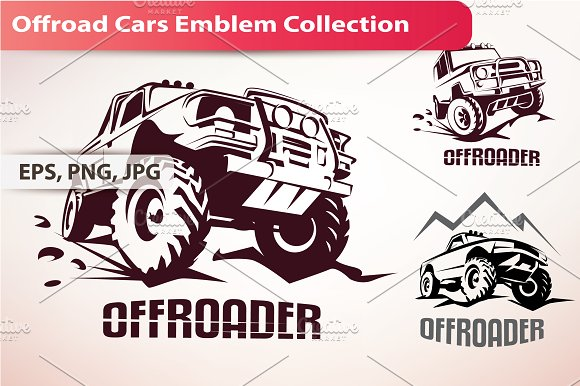 Offroad Cars Emblem Collection