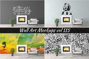 Wall Mockup - Sticker Mockup Vol 115