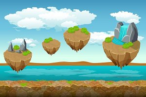 Jumping islands game pattern