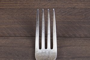 A fork on table