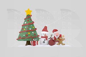 3d illustration. Christmas team.