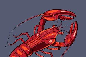 Lobster in vector