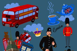 Symbols of London set