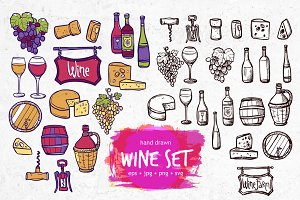 Wine Doodle Collection