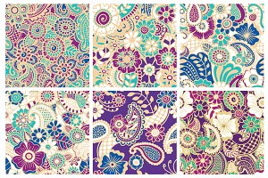 24 Seamless paisley patterns