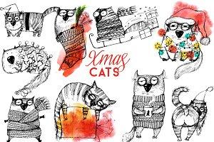 Xmas funny cats