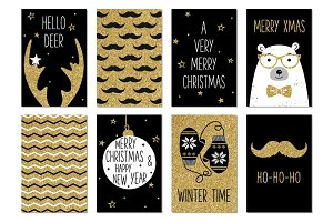 Christmas hipster cards