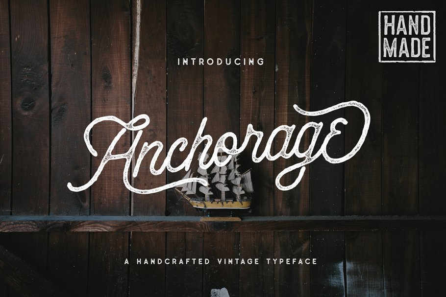 Anchorage Script Typeface - 20% OFF ~ Display Fonts ~ Creative Market
