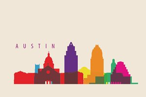 Austin City Skyline Illustration