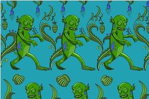 Swamp monster pattern