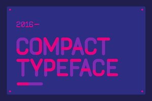 Compact Typeface