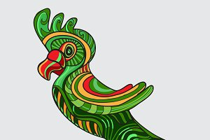 Parrot decorative in vector