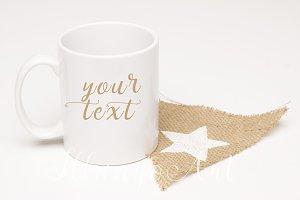 white star Mug mockup