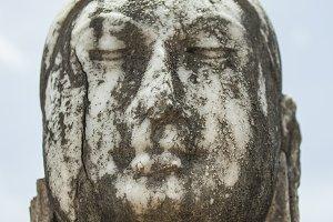 Marble buddha head