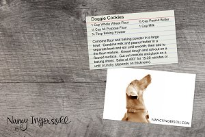 Recipe Card Styled Photo for Mockups
