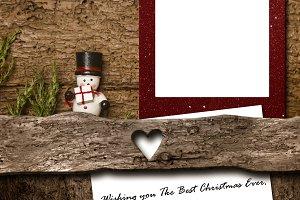Christmas blank frame and greeting