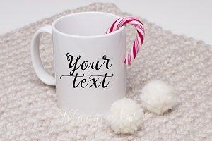 """Mug mockup Christmas style """"SALE"""""""