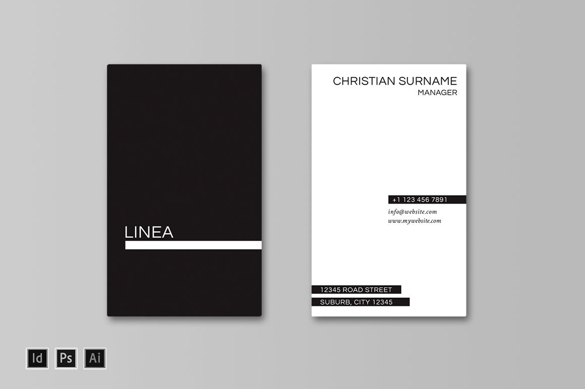 Linea Business Card Template Templates Creative Market