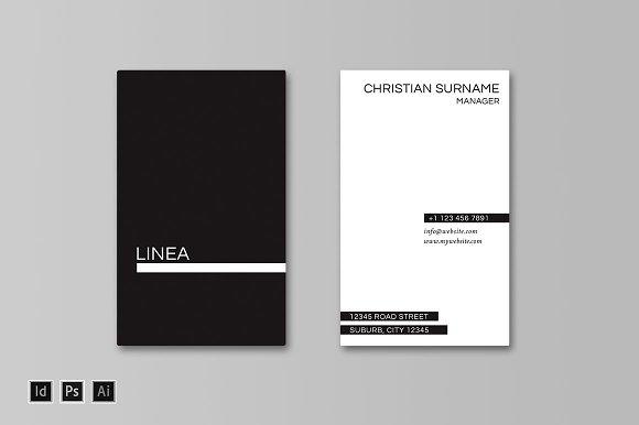 Linea Business Card Template Cards