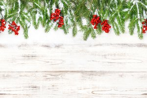 Christmas decoration Floral banner