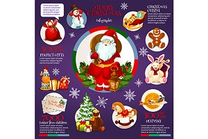 Christmas and New Year infographics