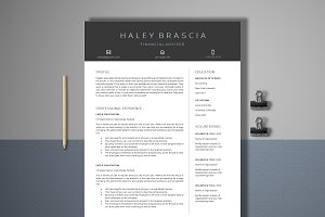 Resume Template 4 Page | Finance CV