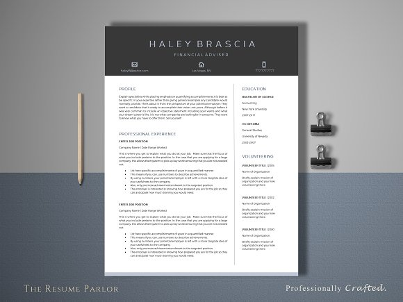 resume template 4 page finance cv resumes