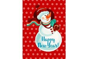 New Year snowman