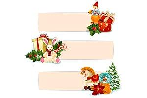Christmas gift banners