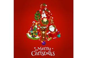 Christmas poster with jingle bell