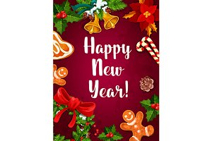 New Year holiday poster