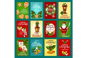 New Year or Christmas greeting cards