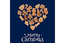 Christmas cookie heart