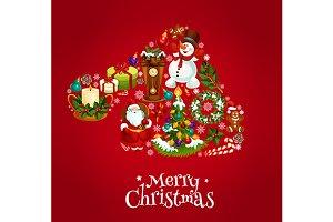 Santas hat poster