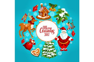 Christmas holiday cartoon poster