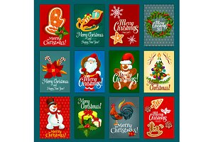 Christmas festive card set