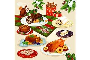 Christmas cuisine festive dinner