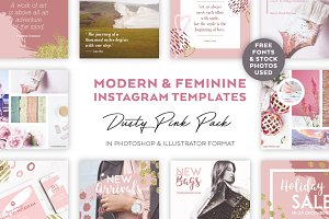 Dusty Pink INSTAGRAM BANNER Pack