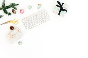 Christmas Desktop Styled Stock Photo