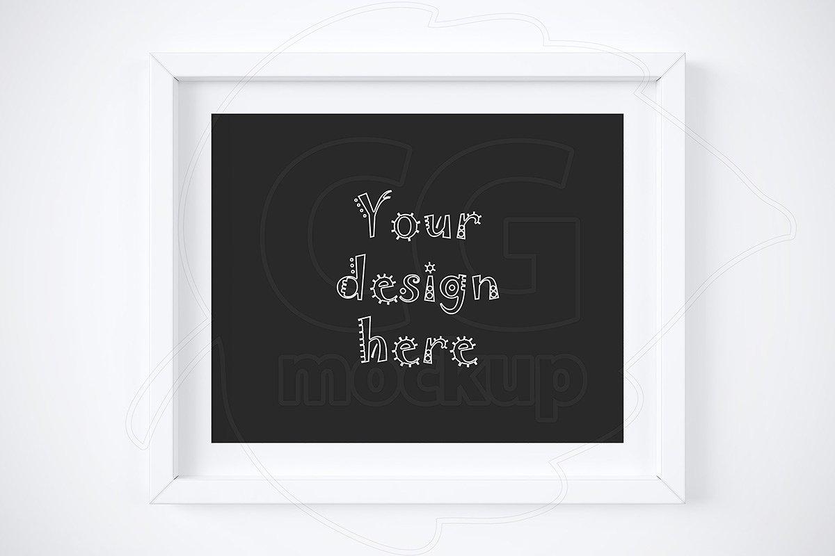 ffee7fefc48f Minimal horizontal frame mockup ~ Print Mockups ~ Creative Market
