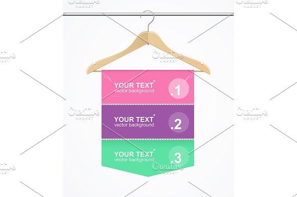 Banner Hanger Cloth. Vector