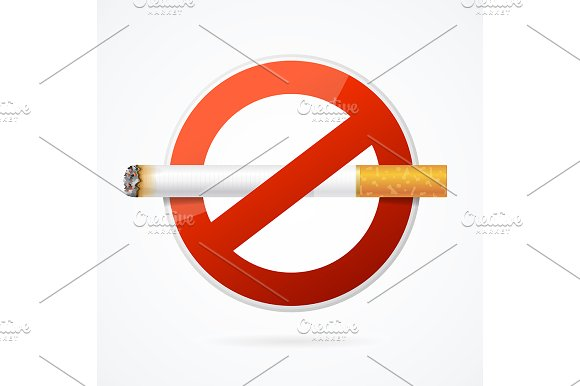 No Smoking Sign with Cigarette.