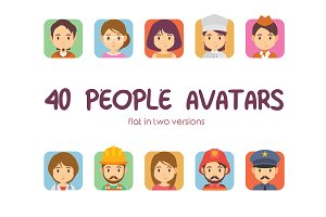 40 People Avatars